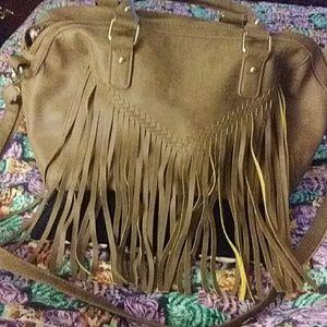 Vintage fringe hippie purse